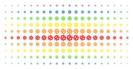 Service tools icon spectrum halftone pattern Ilustrace