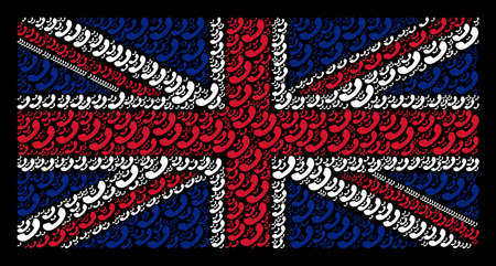 UK Flag pattern designed of call elements
