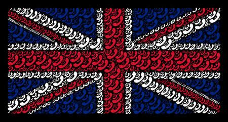 UK Flag pattern designed of call elements