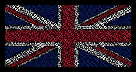 UK Flag concept designed of chain design elements Illustration