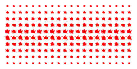 Bang icon halftone pattern, constructed for backgrounds, covers, templates and abstract concepts. Vector bang shapes arranged into halftone matrix.
