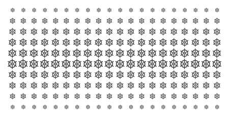 Boat steering wheel icon halftone pattern, designed for backgrounds, covers, templates and abstraction concepts. Vector boat steering wheel items arranged into halftone grid.
