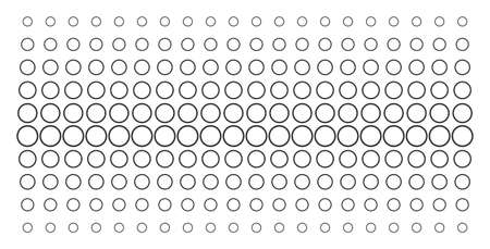 Circle bubble icon halftone pattern, constructed for backgrounds, covers, templates and abstraction compositions. Vector circle bubble pictograms arranged into halftone matrix.