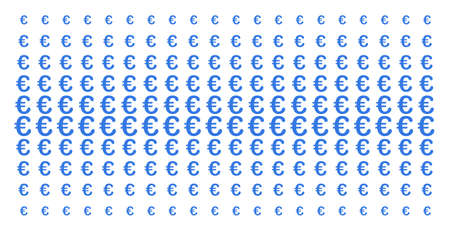 Euro symbol icon halftone pattern, designed for backgrounds, covers, templates and abstraction concepts. Vector Euro symbol pictograms organized into halftone grid.