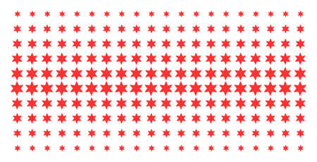Fireworks star icon halftone pattern, constructed for backgrounds, covers, templates and abstraction concepts. Vector fireworks star objects organized into halftone matrix. Illustration
