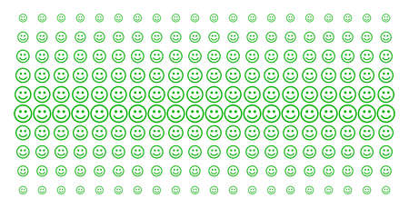 Glad smiley icon halftone pattern, constructed for backgrounds, covers, templates and abstract effects. Vector glad smiley items arranged into halftone matrix.