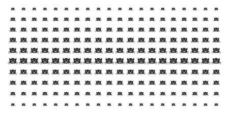 Kitty icon halftone pattern, designed for backgrounds, covers, templates and abstraction concepts. Vector kitty items organized into halftone matrix. Illusztráció