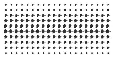 Lier icon halftone pattern, designed for backgrounds, covers, templates and abstraction concepts. Vector lier shapes arranged into halftone array. 일러스트