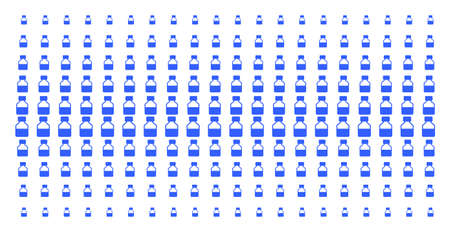 Liquid bottle icon halftone pattern, designed for backgrounds, covers, templates and abstraction effects. Vector liquid bottle symbols arranged into halftone array. Ilustracja