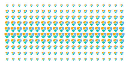 NEM icon halftone pattern, constructed for backgrounds, covers, templates and abstraction concepts. Vector NEM pictograms arranged into halftone grid.