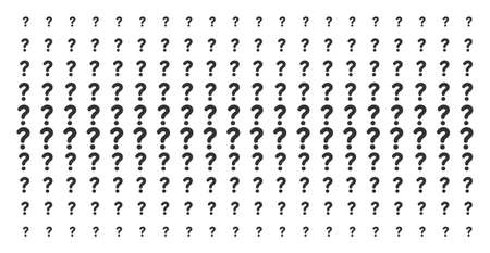 Question icon halftone pattern, constructed for backgrounds, covers, templates and abstraction compositions. Vector question symbols organized into halftone array. Illustration