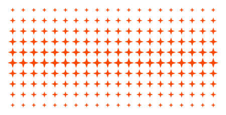 Space star icon halftone pattern, designed for backgrounds, covers, templates and abstraction concepts. Vector space star pictograms arranged into halftone array.