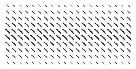 Surgery knife icon halftone pattern, designed for backgrounds, covers, templates and abstract compositions. Vector surgery knife items organized into halftone matrix. Stock Illustratie