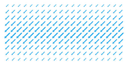 Sword icon halftone pattern, designed for backgrounds, covers, templates and abstraction concepts. Vector sword symbols arranged into halftone matrix.