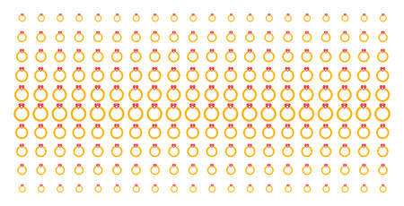 Ruby ring icon halftone pattern, designed for backgrounds, covers, templates and abstraction concepts. Vector ruby ring objects organized into halftone array.