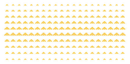 Treasure bricks icon halftone pattern, constructed for backgrounds, covers, templates and abstract concepts. Vector treasure bricks items organized into halftone grid. Illustration