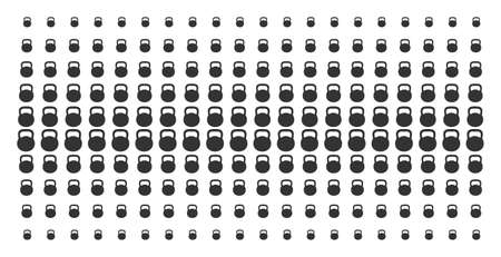 Weight icon halftone pattern, constructed for backgrounds, covers, templates and abstraction concepts. Vector weight shapes arranged into halftone grid.