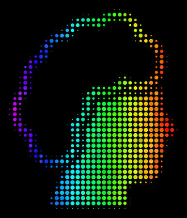 Dotted colorful halftone blonde profile icon