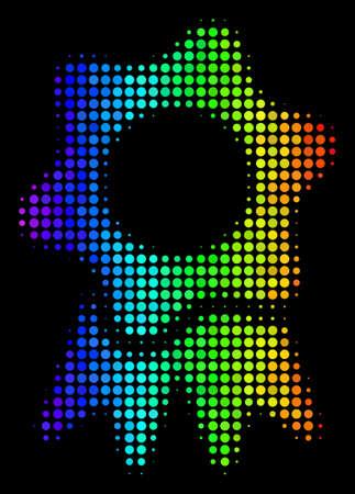 Pixel colorful halftone award icon