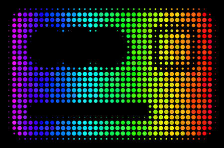 Pixel colorful halftone banking card icon