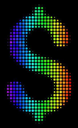 Pixel impressive halftone dollar icon