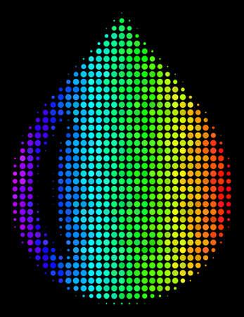 Colorful halftone drop icon