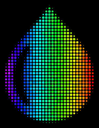 Colorful halftone drop icon