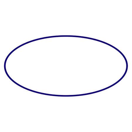 Modello di cornice ellittica. Elemento di progetto vettoriale per sigilli di francobolli in colore blu.