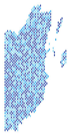 Population Belize map. Demography vector collage of Belize map combined of man elements. Abstract social representation of national mass cartography. Demographic map in blue color tinges. Illustration