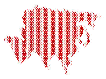 Demography Asia map people. Population vector cartography collage of Asia map done of person items. Social representation of nation audience. Demographic abstract halftone map.