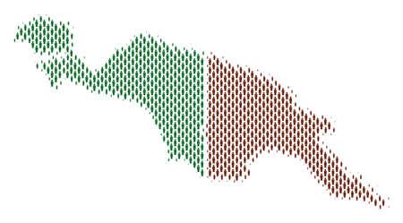 Démographie Les pays de la Nouvelle-Guinée cartographient les gens. Collage de cartographie de vecteur de population de la carte des pays de Nouvelle-Guinée faite d'éléments de personne. Schéma social de la masse nationale. Carte de demi-teintes abstraite démographique. Vecteurs