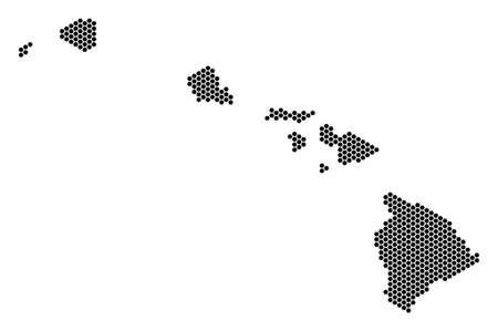 Hexagonal Hawaii Islands map