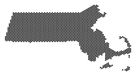 Hexagon Massachusetts State map
