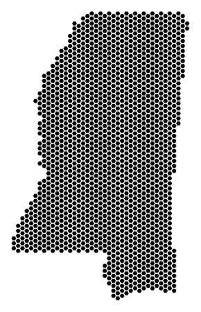 Hex Tile Mississippi State map