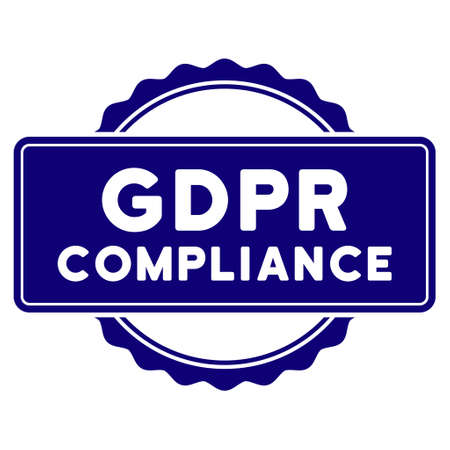 GDPR Compliance seal template. Vector element with clear design for stamps and watermarks. Illustration