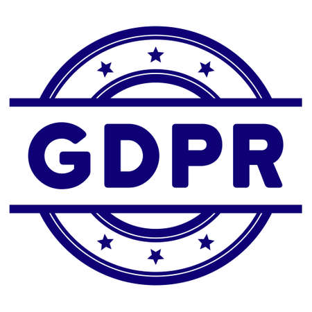 GDPR seal template. Vector element with clear design for stamps and watermarks. Illustration