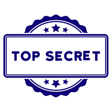 Top Secret seal template. Vector element with clear design for stamps and watermarks.
