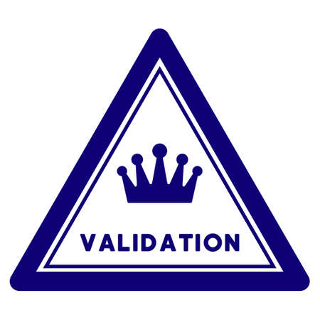 Validation triangle seal template. Vector element with clear design for stamps and watermarks. Vektorgrafik