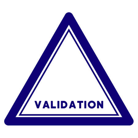 Validation triangle seal template. Vector element with clear design for stamps and watermarks.