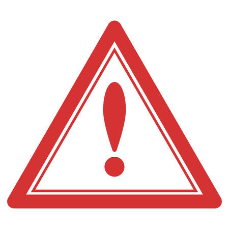 Warning triangle seal template. Vector element with clear design for stamps and watermarks. Illustration