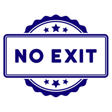 No Exit text seal template. Vector element with clear design for stamps and watermarks. Illustration