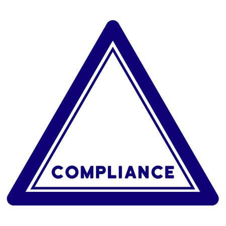 Compliance triangle seal template. Vector element with clear design for stamps and watermarks. Illustration