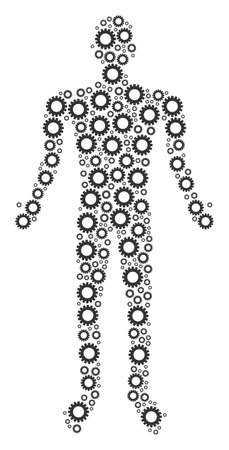 Gear human figure. Çizim