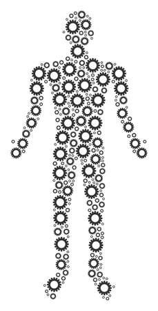 Gear human figure. Illustration