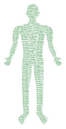 Natural text man representation. Illustration
