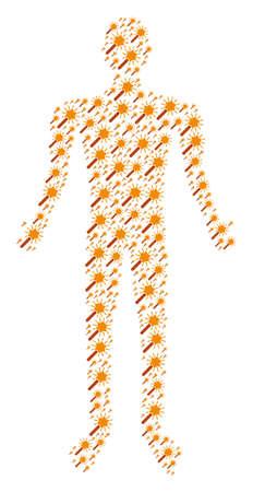 Wand magic tool person avatar. Stock Illustratie