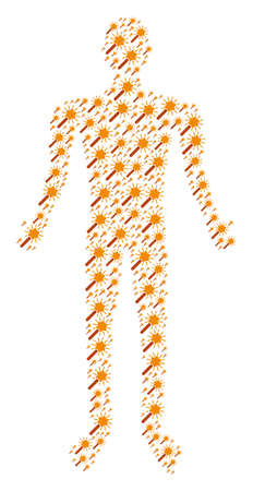 Wand magic tool person avatar. Illustration