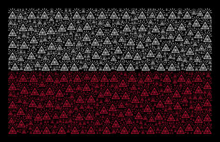 Polish National Flag pattern combined of total control eye pyramid elements.