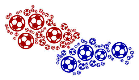 Football Czechoslovakia map. Vector geographic plan composed from football spheres in variable sizes. Abstract Czechoslovakia map composition is formed with scattered soccer spheres.