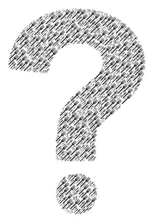 Question mark composition made from fork pictograms. Vector fork icons are organized into FAQ composition.